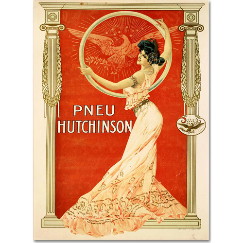 "Trademark Fine Art ""Pneu Hutchinson"" Canvas Art by Vintage Apple Collection"