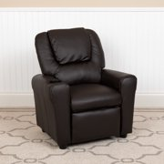 Flash Furniture Standard Vinyl Recliner with Cupholder, Brown