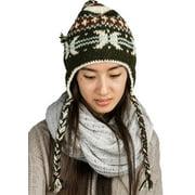 Warm Soft Winter Wool Hat Cap Fleeced Inside Hand Knit Snow Cold Women Fashion