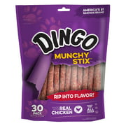 Dingo Munchy Stix Rawhide Chicken Treat for Dogs, 30-Count