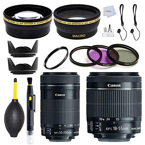 Double Canon Lens Kit for Canon EOS 7D, 60D, 60Da, 70D, E...