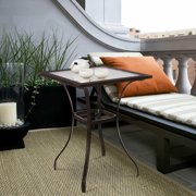 Rattan Wicker Bar Square Table Glass Top Yard Outdoor Patio Garden Furniture
