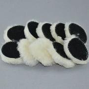 10pcs 3 Inch Woolen Polishing Buffer Pads Heavy Cut Pads For Car Polisher
