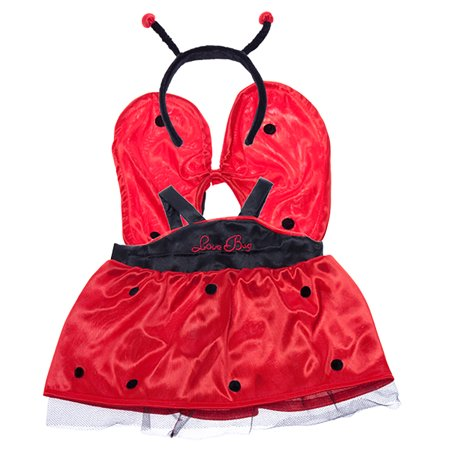 Lady Bug Dress w/Antenna Teddy Bear Clothes Outfit Fits Most 14