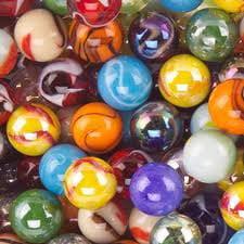 Mega Marbles SET OF 24 ASSORTED BULK - 1