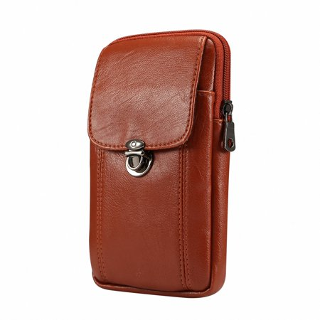 dcb759c9d391 Purse for Men Bag Phone Case, Vertical Small PU Leather Cell Phone Bag Belt  Pouch