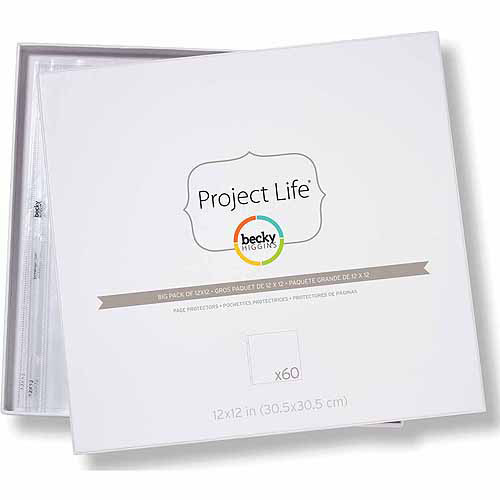 """American Crafts Project Life Photo Pocket Pages, 60pk, 12"""" x 12"""""""