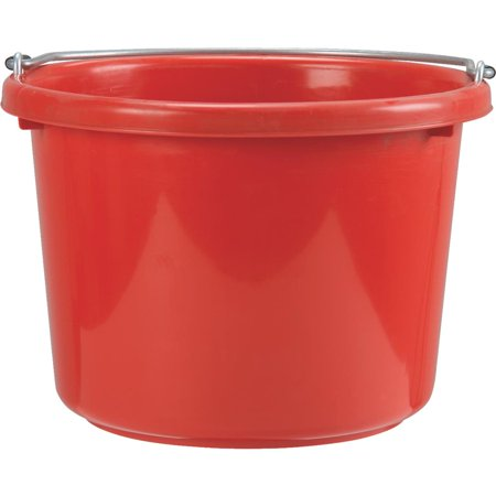 - Miller Mfg. 8 Quart Red Poly Bucket P8RED6