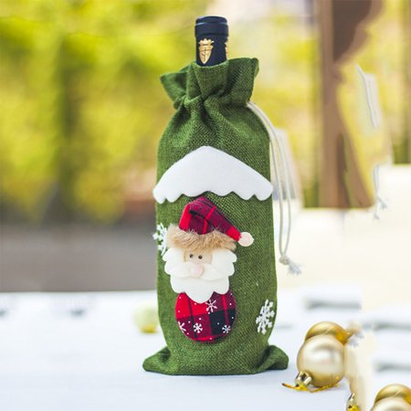 Festive Bottle (Christmas Decorations Wine Bottle Bags Festive Holiday Gifts Bags )