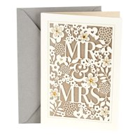 Hallmark Wedding Card (Mr. & Mrs.)