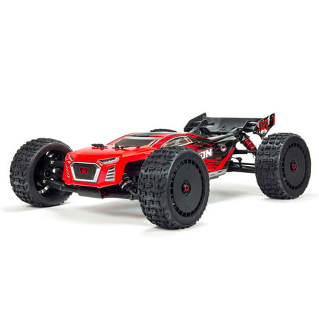 Rtr Usb (ARRMA 1/8 TALION 6S BLX 4WD Brushless Sport Performance Truggy with Spektrum RTR, Red/Black,)