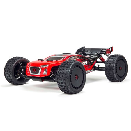 ARRMA 1/8 TALION 6S BLX 4WD Brushless Sport Performance Truggy with Spektrum RTR, Red/Black, ARA106048