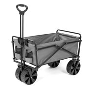 Best Beach Wagon For Sands - Seina Collapsible Utility Beach Wagon and Cart, Gray Review