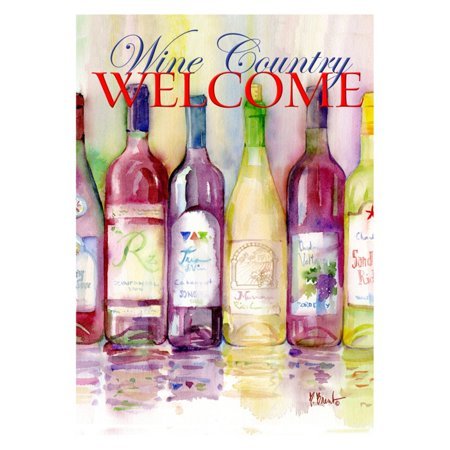 Toland Home Garden Reds and Whites Wine Country Welcome Flag