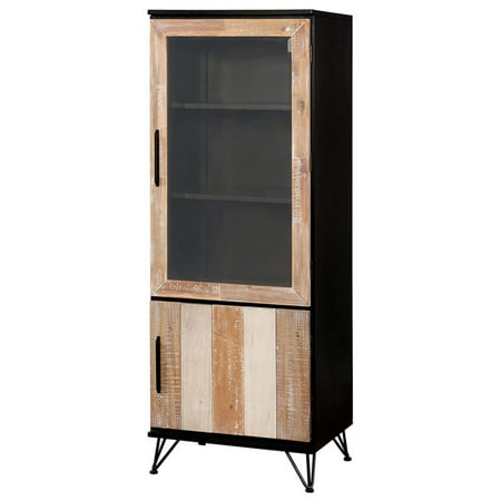 Furniture of America Estelle 2 Door Pier Cabinet in Espresso