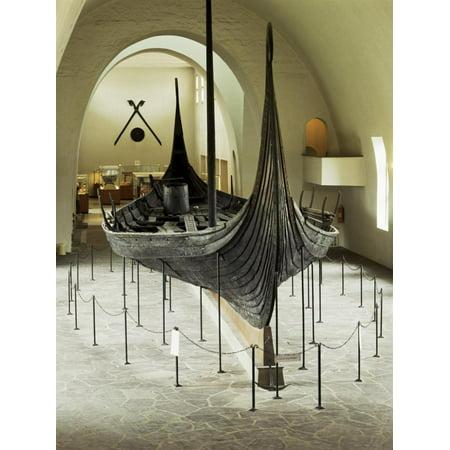 Replica of a Viking Ship, Oseberg, Oslo, Norway, Scandinavia Print Wall Art By G Richardson