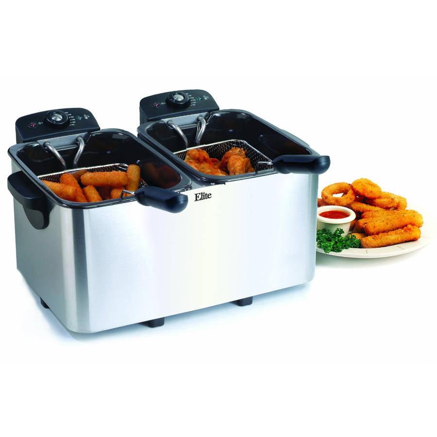 Maxi Matic Elite Platinum Dual Deep Fryer, 2 x 3 qt