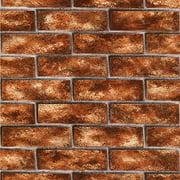 Brewster Urbania Red Brick Texture Wallpaper