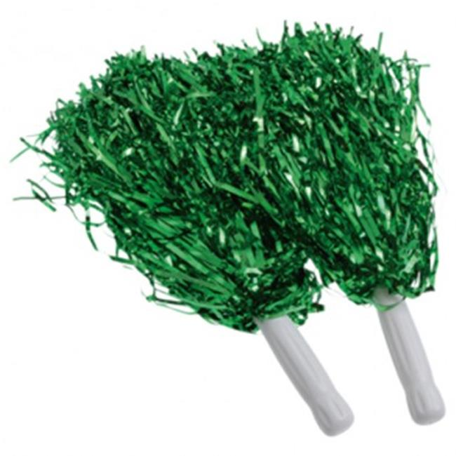 US Toy KD45-10X5 Green Metallic Pom Poms - 12 Per Pack - Pack of 5