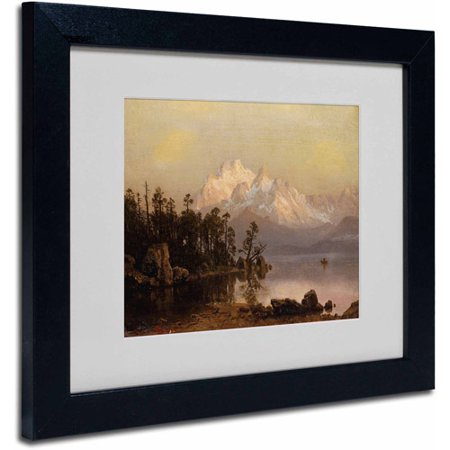 "Trademark Fine Art ""Mountain Canoeing"" Canvas Art by Albert Bierstadt, Black Frame"