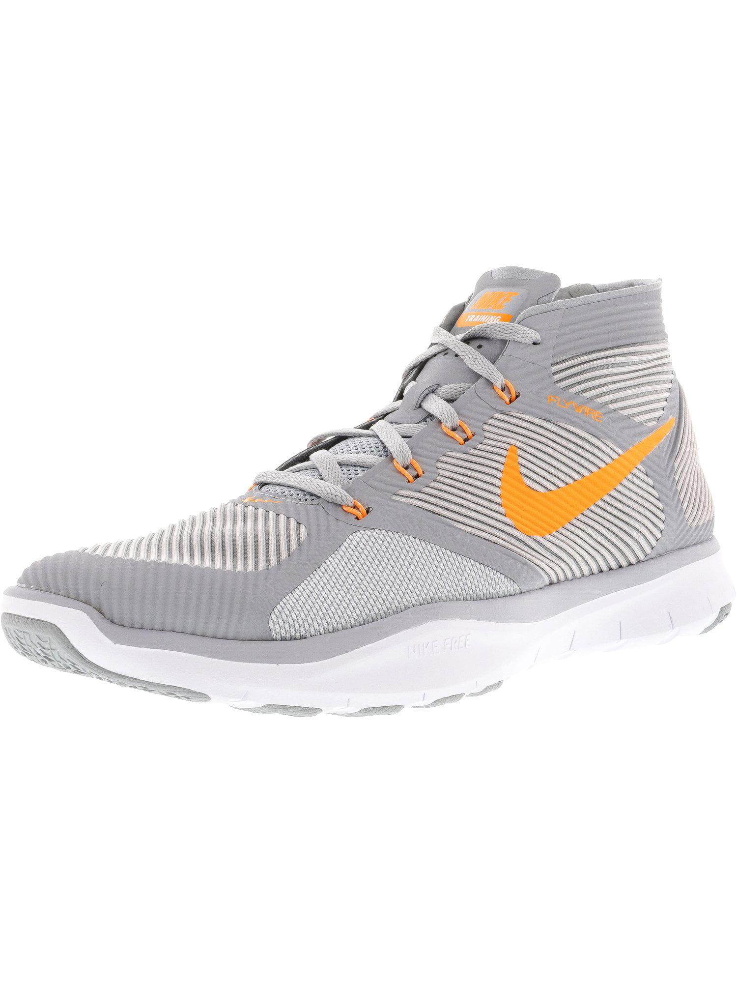 Nike Men's Free Train Instinct Wolf Grey / Bright Citrus Ankle-High Running Shoe - 10M