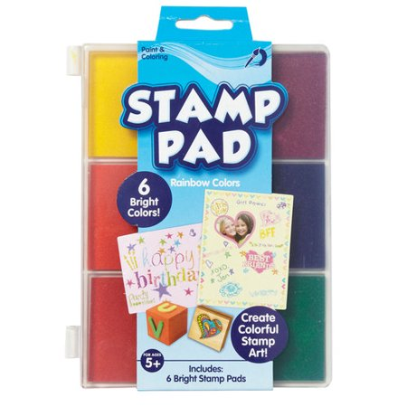 Kids Craft Rainbow Stamp Pad, 1 Each Doily Lace Ink Pad