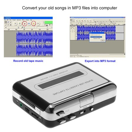 ezcap USB Cassette Capture Cassette Tape-to-MP3 Converter into Computer Stereo HiFi Sound Quality Mega Bass Audio Music Player with Earphone - image 5 of 7