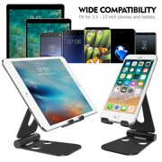 FeelGlad 4-10 inch Range Multi-Angle Tablet Stand Holders, Adjustable iPad Stand, Cell Phone Stands, iPhone Stand, Nintendo Switch Stand, iPad Mini Stands and Holders for Desk , Black