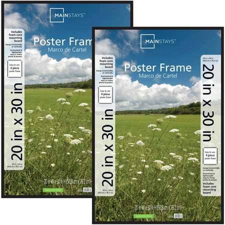 Mainstays 20x30 Basic Poster And Picture Frame Black Set