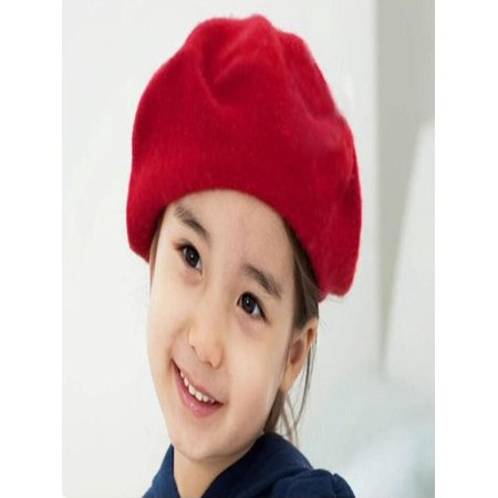 Kids Girls Bailey Hat Dome Beret Watermelon Red](Pink Beret)