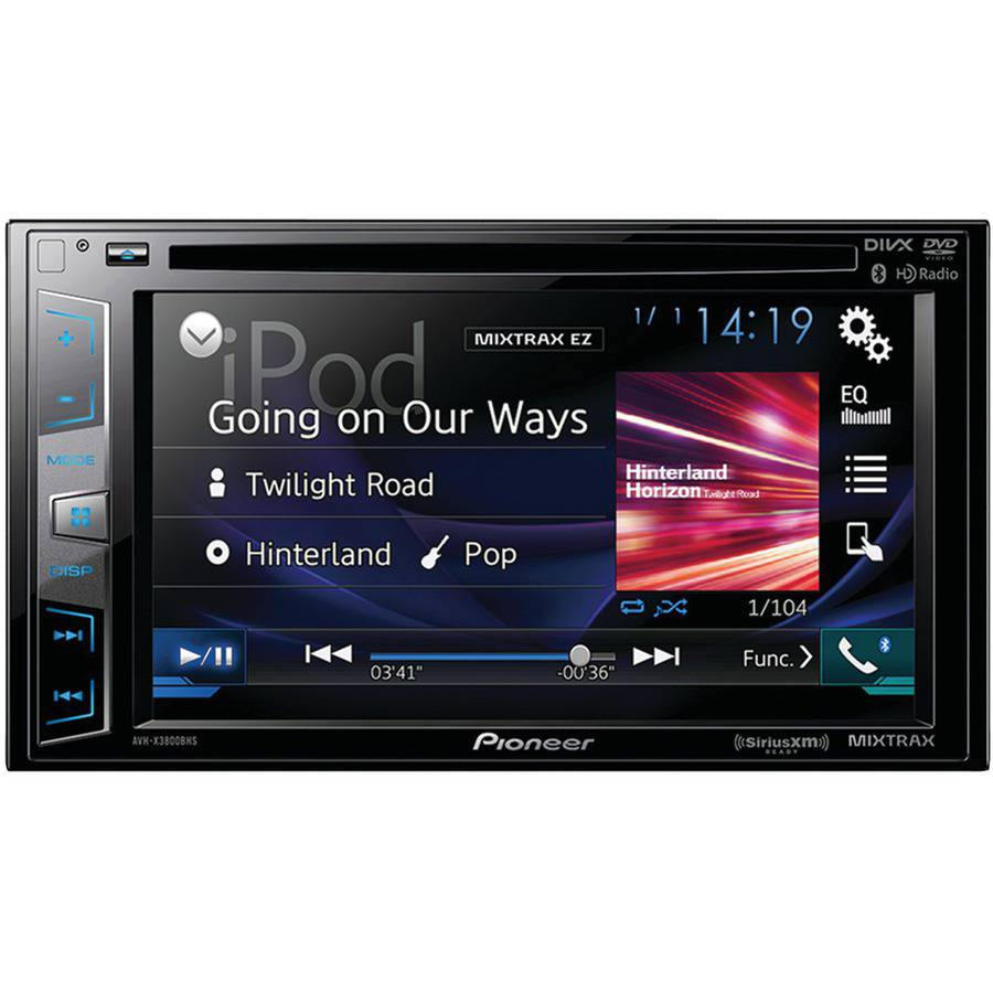 "Pioneer Avh-x2800bs 6.2"" Double-DIN In-Dash DVD Receiver with Bluetooth, Siri Eyes Free, SiriusXM Ready, Spotify and AppRadio One"