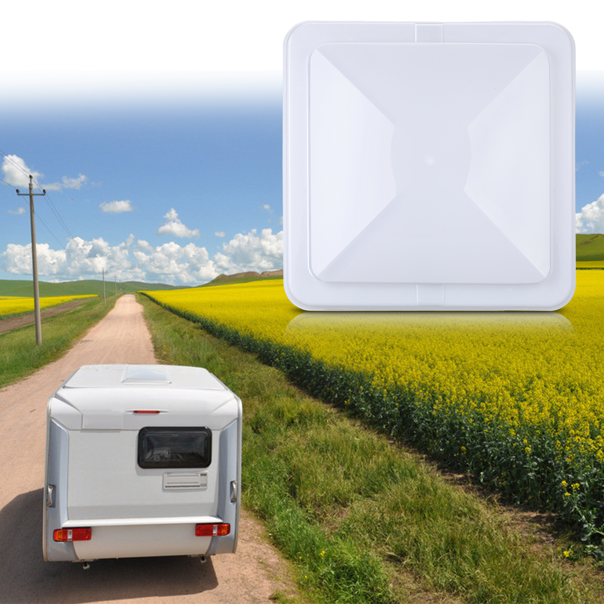 VETOMILE RV Roof Vent Lid Cover Universal Replacement 14 Inch White for Camper Trailer 2 Packs