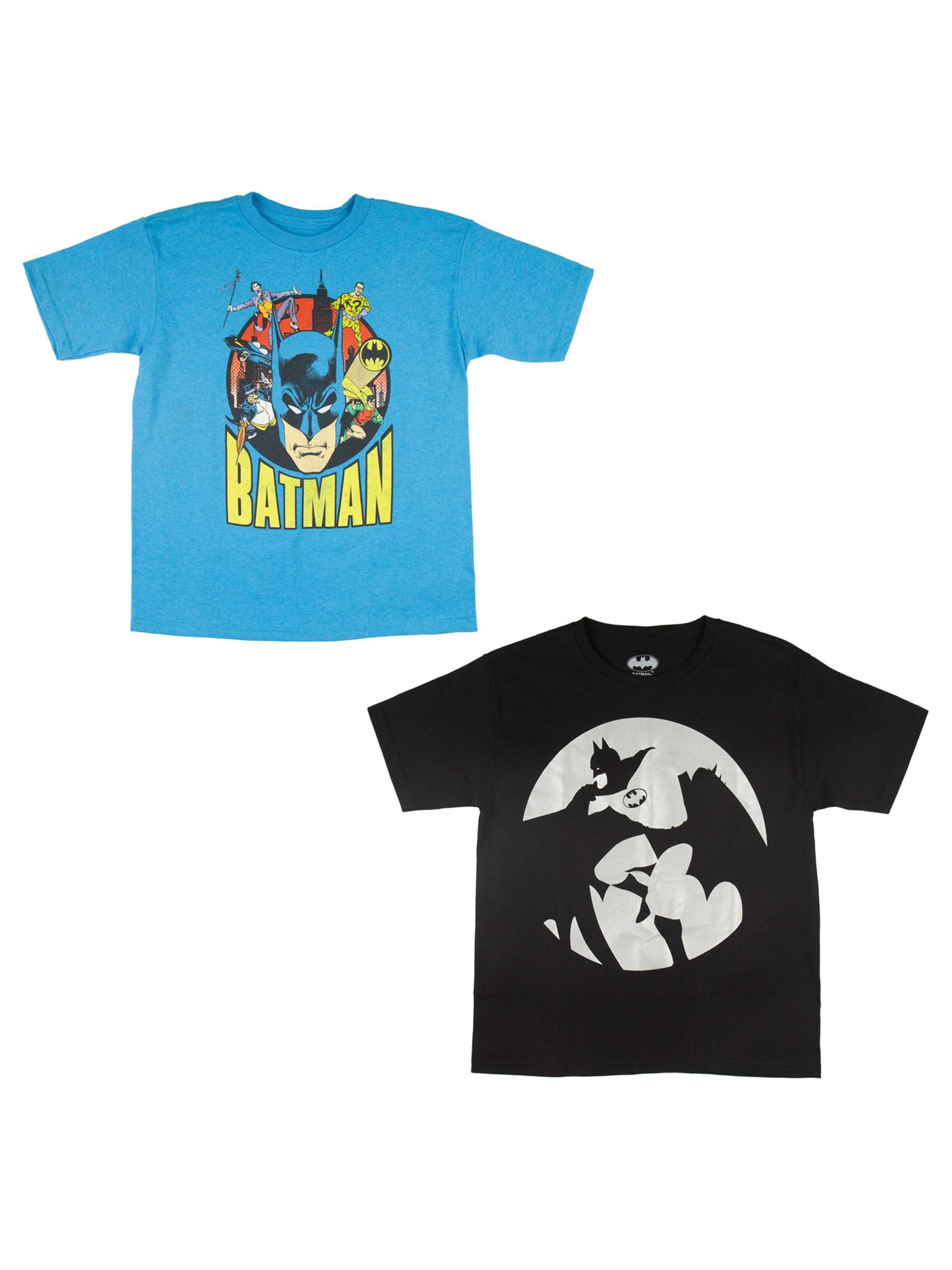 Boys Batman Comic Characters 2-Piece Short Sleeve Tee Set