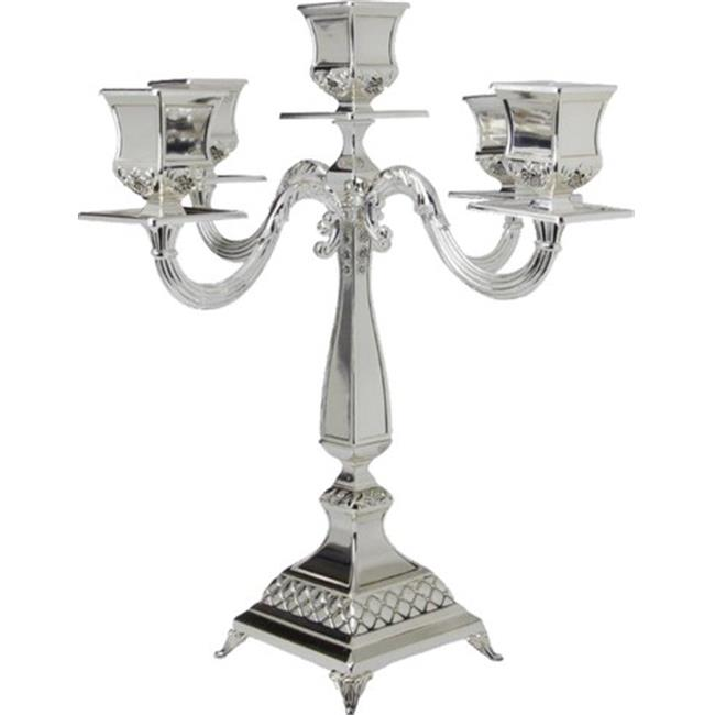 Nua Collection 58102 Silver Plated Candelabra - 5 Stick  14 in. - image 1 of 1
