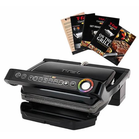 T fal gc702 optigrill with recipe books indoor electric - T fal optigrill indoor electric grill ...