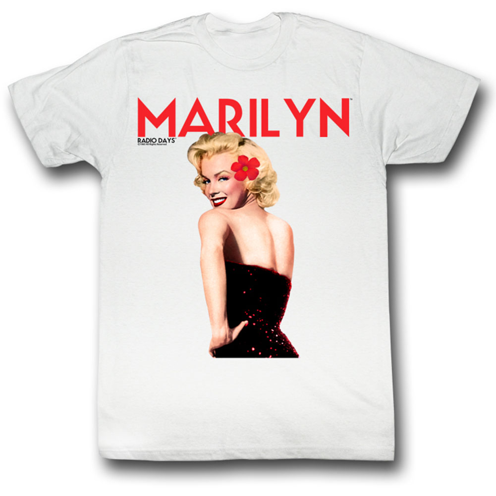 Marilyn Monroe Men's  Lady In Red T-shirt White