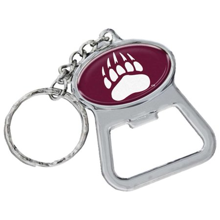 Montana Grizzlies Metal Key Chain And Bottle Opener W/domed Insert