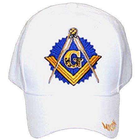 4d115c0481a69 Buy Caps and Hats - MASON Baseball Cap Freemason Masonic White Hat Mens  Adjustable - Walmart.com