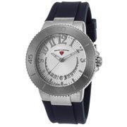 11315Sm-02-Bls Riviera Navy Blue Silicone Silver-Tone Dial Stainless Steel Watch