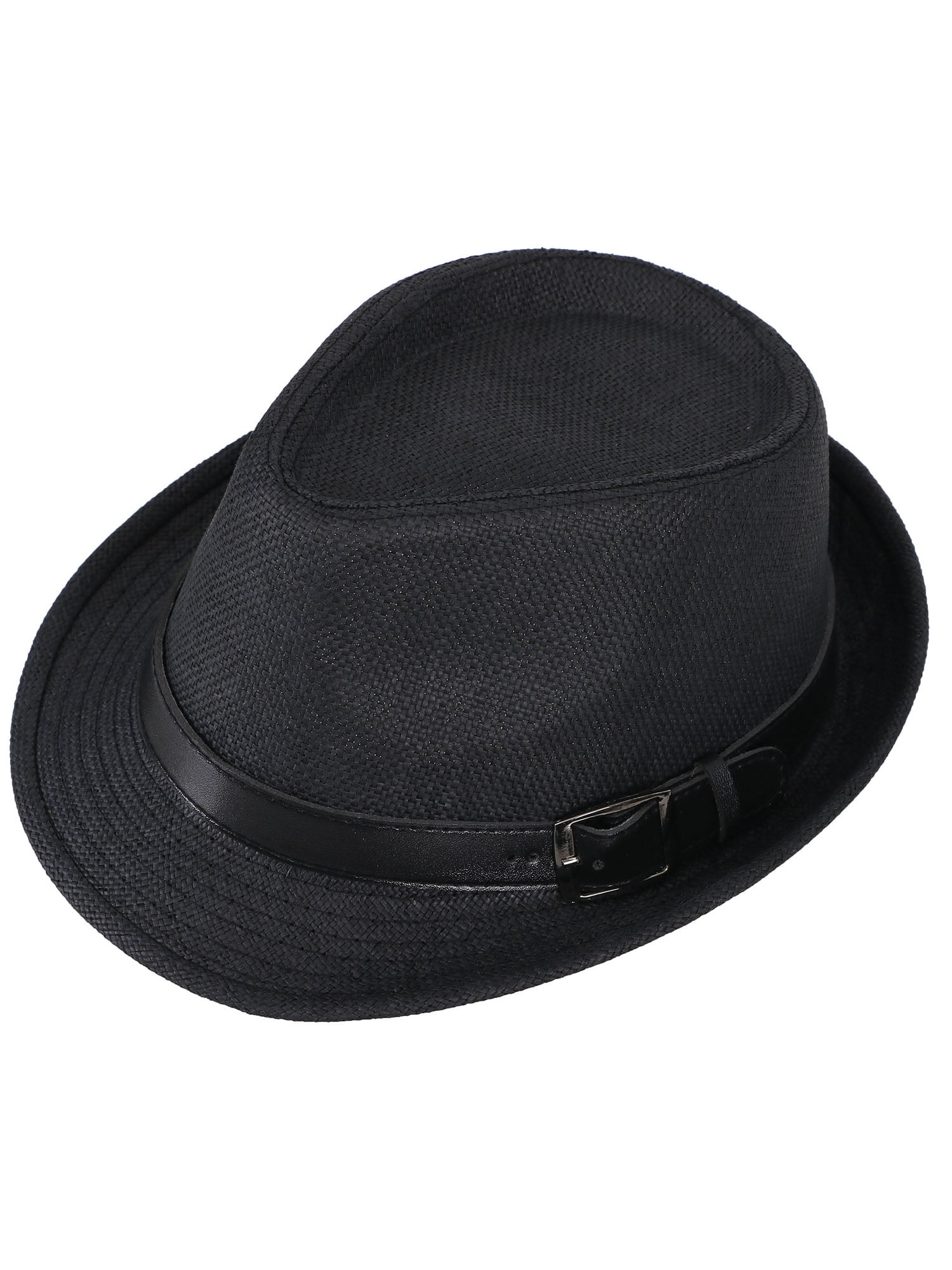New Westend Men/'s Faux Leather Trilby Fedora Hat