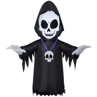 Gemmy Industries Yard Inflatables Skull Reaper 4 ft Deals