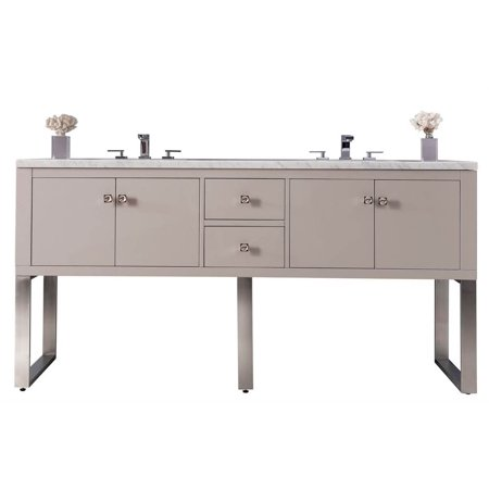 72 in. Double Vanity in Mountain Mist