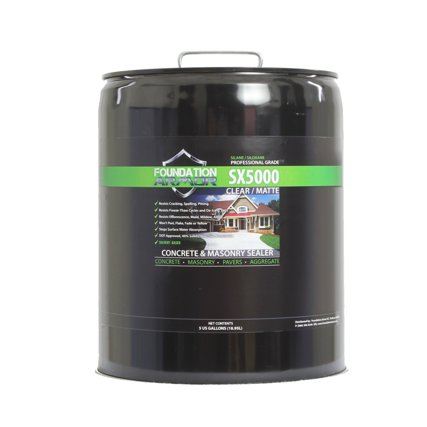 5 Gallon Armor SX5000 Silane Siloxane Penetrating Concrete Sealer and Masonry Water... by United States