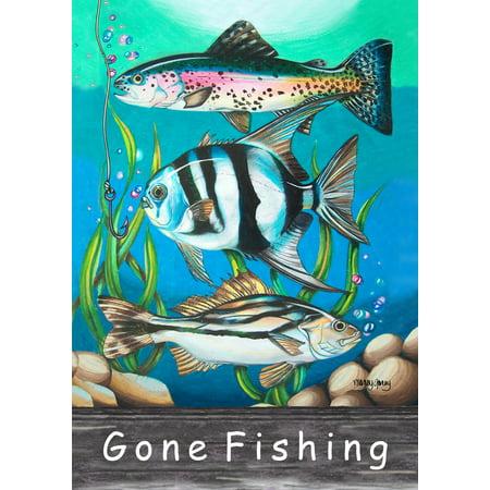 Toland Home Garden Gone Fishing Garden