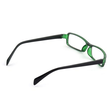 840cf3cab94 Rectangle Lens Full Frame Eyewear Plain Plano Glass Spectacles Green Black  - image 1 of 3 ...