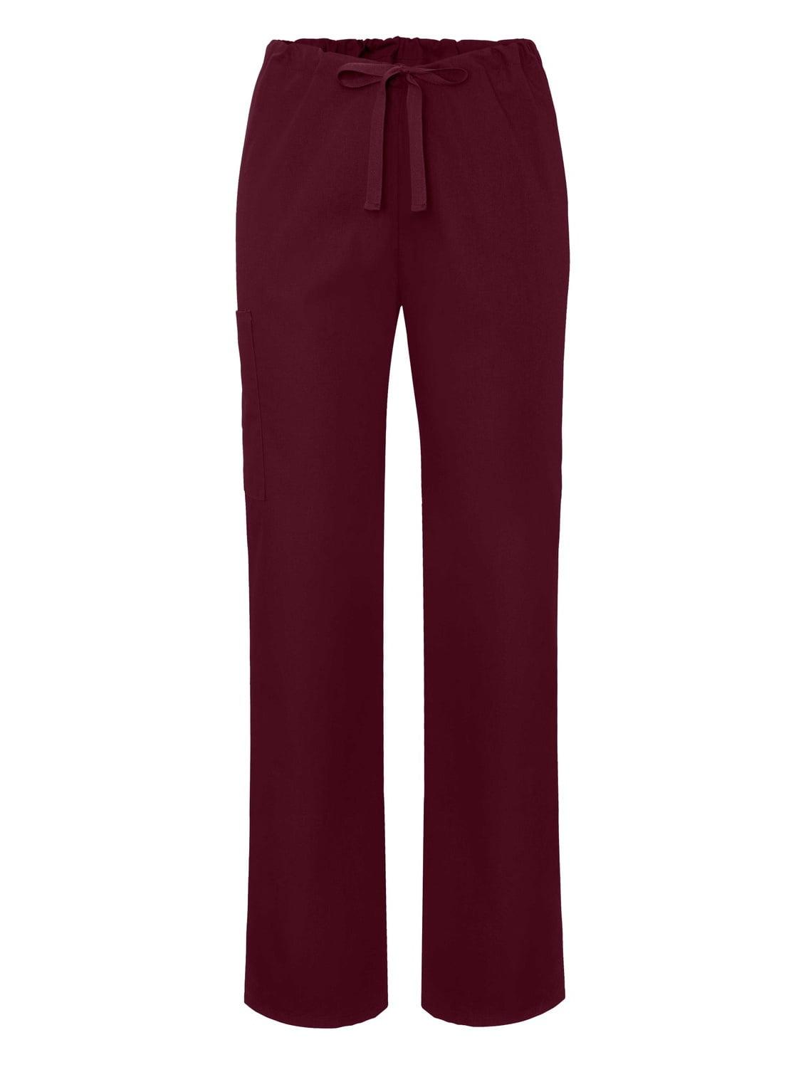 Adar Universal Unisex Natural-Rise Drawstring Tapered Leg Pants Petite - 504P - Geranium - XL