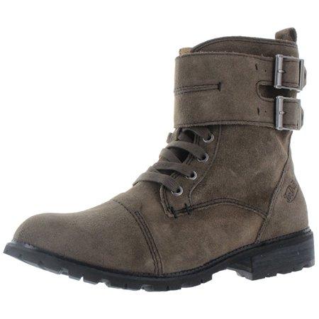 (Von Dutch Taylor Men's Double Buckle Combat Boots Size 12)