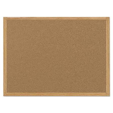 MasterVision Value Cork Bulletin Board with Oak Frame, 24 x 36,