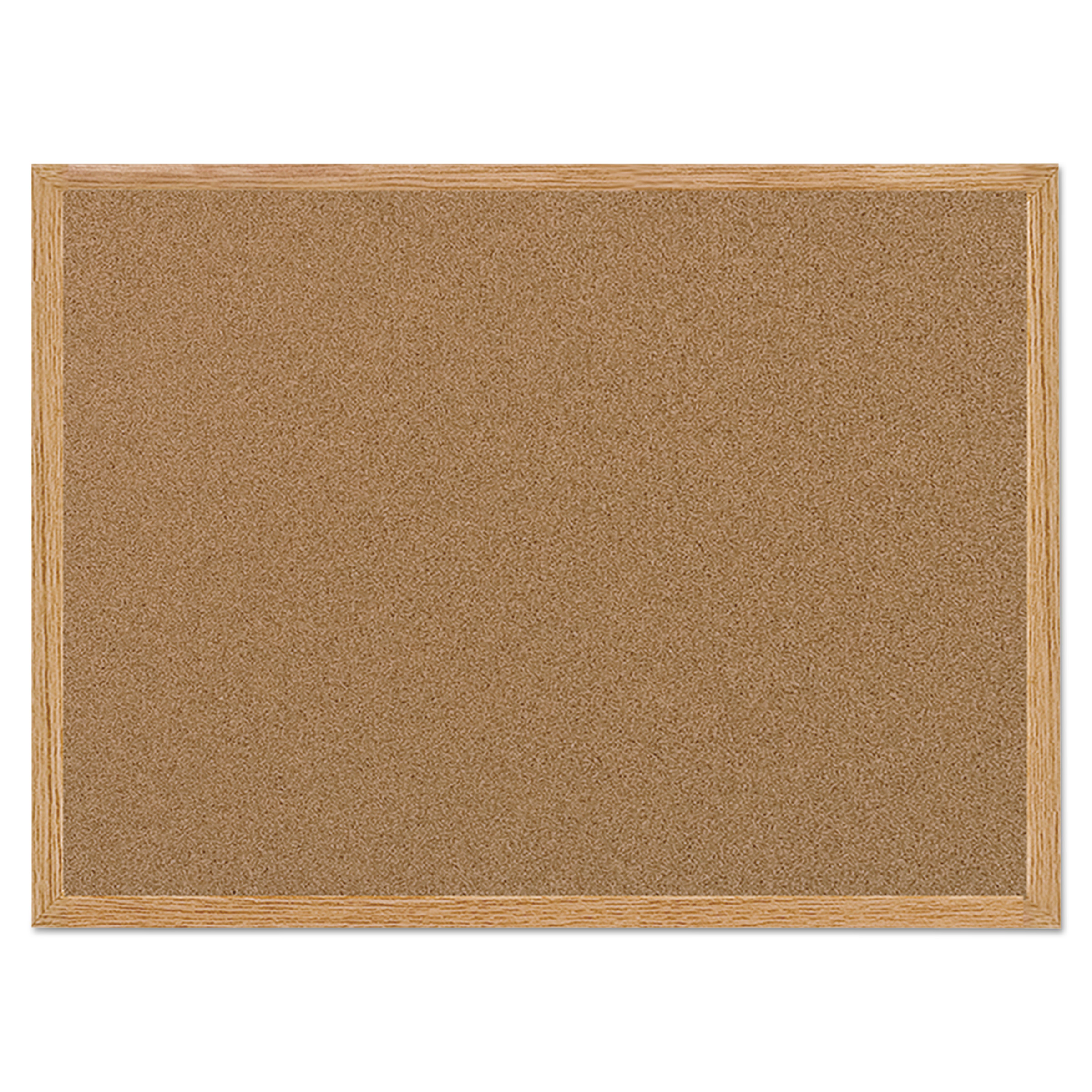 MasterVision Value Cork Bulletin Board with Oak Frame, 24 x 36, Natural