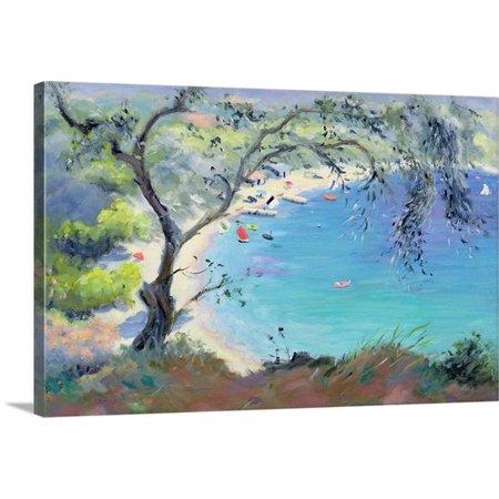 Great Big Canvas Anne Durham Premium Thick Wrap Canvas Entitled Lichnos Bay  Epirus  Greece  1995